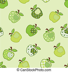 patchwork green apple tree - fabric patchwork green apple...