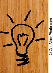 Light Bulb on Dry Erase Board