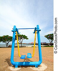 Exercise equipment in public park