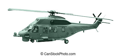 helicopter isolated white