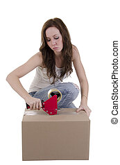 Woman moving