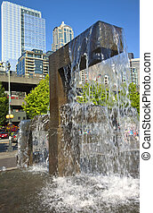 Waterfountain architecture and park. - Waterfountain...