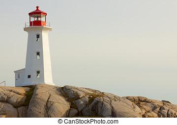 Lighthouse - Peggy's Cove Lighthouse. Nova Scotia