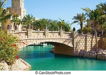 Middle east cityscape, Dubai, UAE