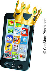 Mobile Phone King - Mobile phone king concept, mobile phone...