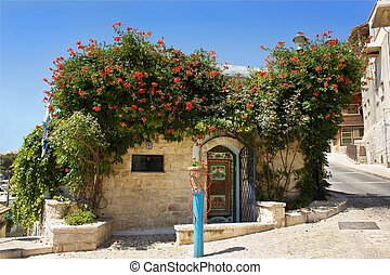 old house in Safed, Upper Galilee, Israel