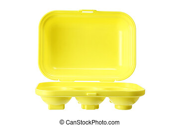 Toy Egg Carton on White Background
