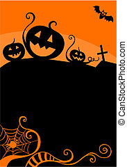 halloween card - vector illustration of a halloween card