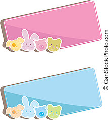 baby animals background - two baby animals background with...