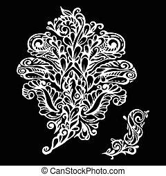 Floral design element renaissance style