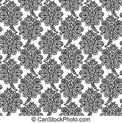 Floral seamless pattern in renaissance style-model for...
