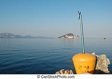 marathonisi islet zakynthos - Marathonisi islet as seen from...