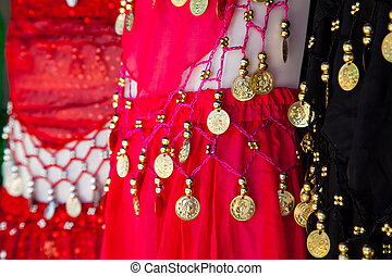Belly dance costume details , tunisian bazar