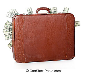 suitcase is full of money