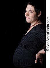 Profile of a pregnant Women