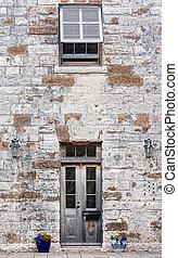 Front Entryway of Brick Building
