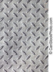 Real Metal Diamond Plate - Closeup of real diamond plate...
