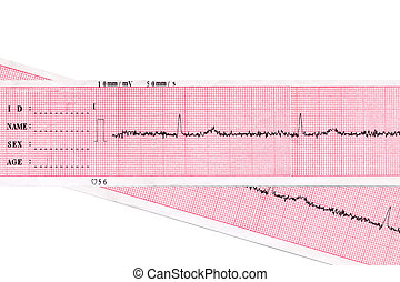 Heart Cardiogram - Heart Medical inspection and health Heart...