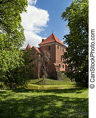 Small Castle - Image shows small castle in polish village