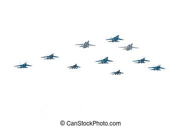 Su-24, Su-27, Su-34, Mig-29