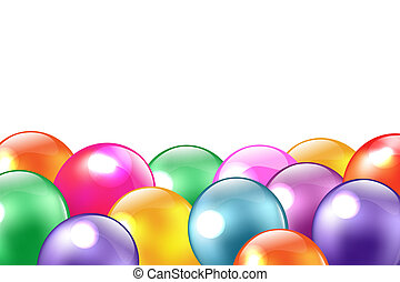 Balloon Border, Isolated On White Background, Vector...