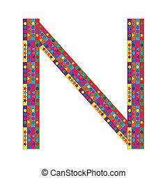 Letter N on white background