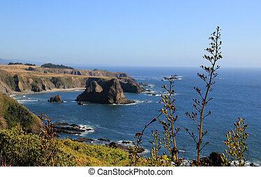 Pacific Ocean Coast Along Highway 1, California, USA