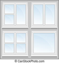 Windows with sills, vector eps10 illustration