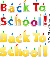 Back To School Paper Words