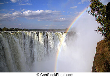 View of the Main Falls of Victoria Falls, Zimbabwe