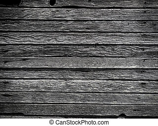 Weathered boards / siding on barn