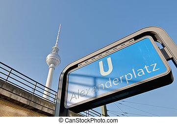 Alexanderplatz, at central Mitte district of Berlin. -...