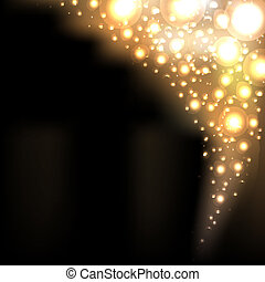 Golden Blur Background - Gold Abstract Dark Elegant...