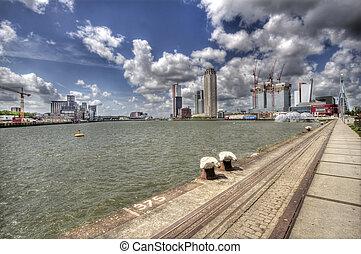 Rotterdam - Skyline of Rotterdam, Holland
