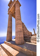 Athena's temple ruins