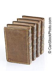 Four volumes of antique books