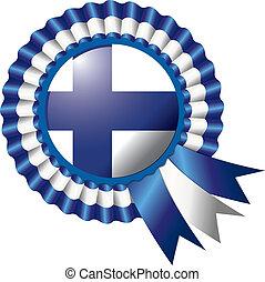 Finland rosette flag