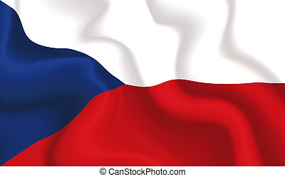 Czech waving flag