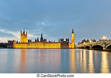 Houses of Parliament at London, England - Houses of...