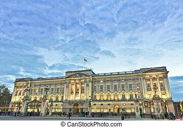 Buckingham Palace at London, England - Buckingham Palace...