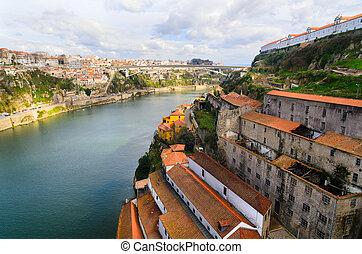Porto, Portugal - view of Douro river at Porto, Portugal