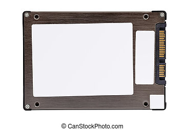 solid-state disk on a white background