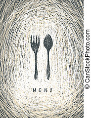 Art Restaurant Menu Concept Design Vector