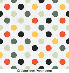 Seamless variegated polka dot pattern Vector, EPS10