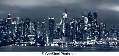 Manhattan, New York City - Panoramic image of Manhattan...