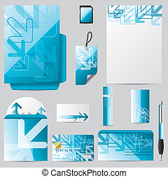 Stationary business set with arrows - Stationary business...