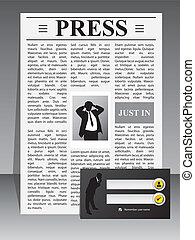 Business press website template