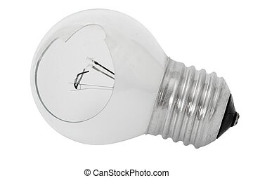 Shattered light bulb, isolated on a white background