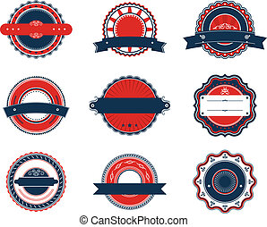 Retro labels set - Set of retro labels for sticker, badge or...