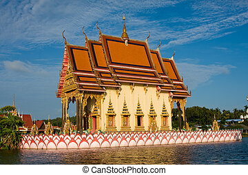 Buddhistic temple on Koh Samui island, Thailand - Buddhist...
